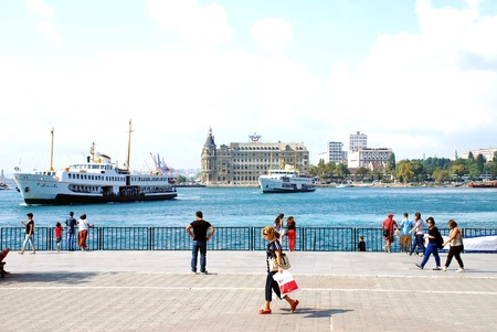 haydarpasa: Haydarpasa Train Station and people in Istanbul, Turkey