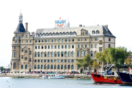 haydarpasa: Haydarpasa central station building  Istanbul - Turkey