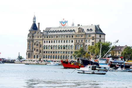 Haydarpasa central station building  Istanbul - Turkey Stock Photo - 16586386