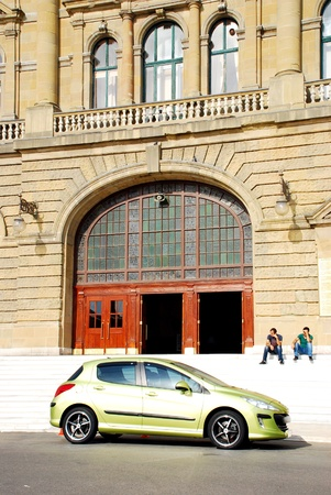 haydarpasa: Haydarpasa central station building and car  Istanbul - Turkey
