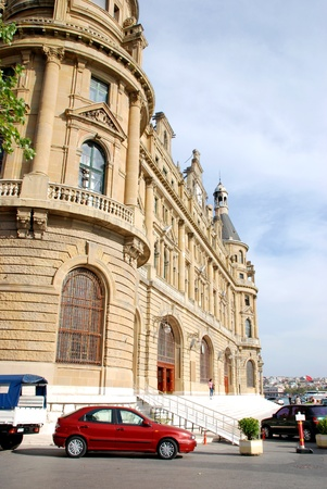 Haydarpasa central station building and cars  Istanbul - Turkey