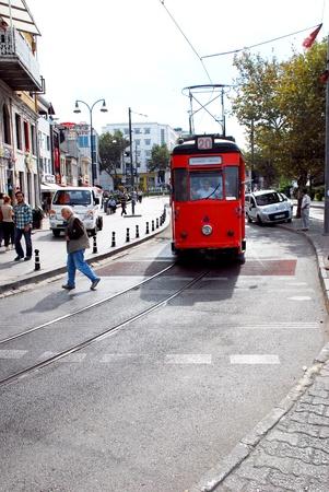 Nostalgic trams of Kadık?Istanbul.