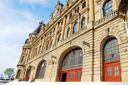 Haydarpasa Railway Station Building in Istanbul, Turkey Stock Photo - 16743730