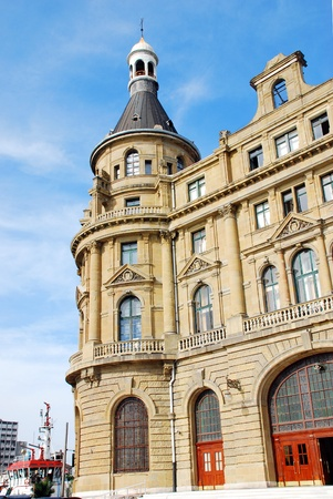 kadikoy: Haydarpasa Railway Station Building in Istanbul, Turkey