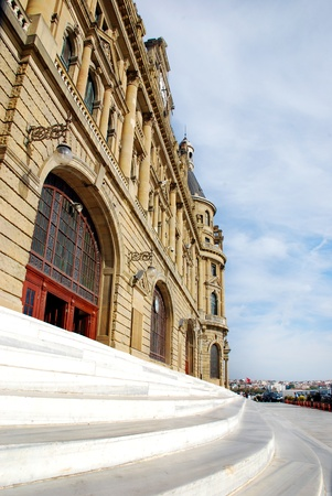haydarpasa: Haydarpasa Railway Station Building in Istanbul, Turkey