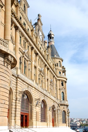 Haydarpasa Railway Station Building in Istanbul, Turkey