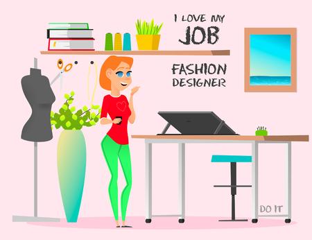 Dream job fashion designer. Do it Banco de Imagens