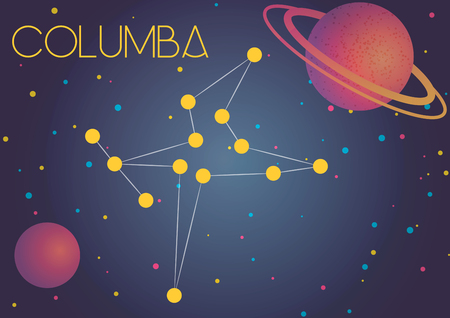 Bright image of the constellation Columba. Kids who are fond of astronomy will like it very much.