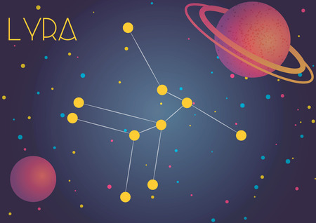 Bright image of the constellation Lyra. Kids who are fond of astronomy will like it very much.