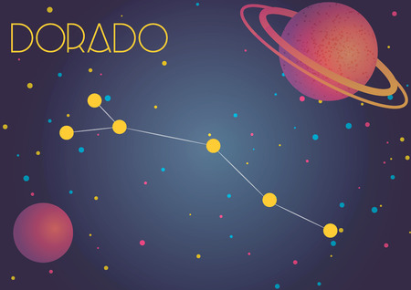 Bright image of the constellation Dorado. Kids who are fond of astronomy will like it very much.