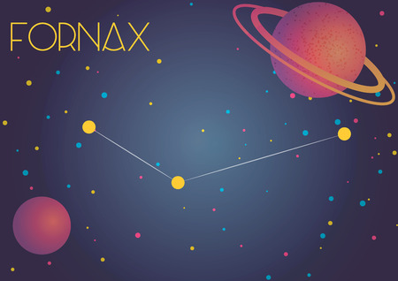 Bright image of the constellation Fornax. Kids who are fond of astronomy will like it very much.