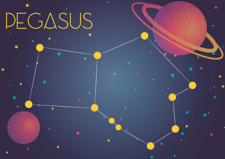 Bright image of the constellation Pegasus. Kids who are fond of astronomy will like it very much.