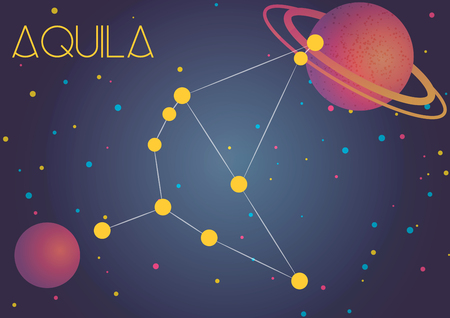 Bright image of the constellation Aquila. Kids who are fond of astronomy will like it very much.