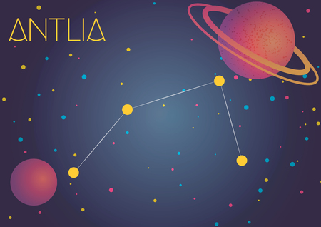 Bright image of the constellation Antlia. Kids who are fond of astronomy will like it very much.