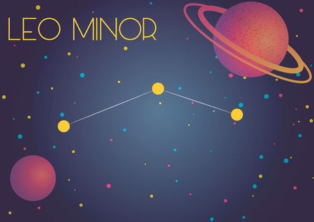 Bright image of the constellation Leo Minor. Kids who are fond of astronomy will like it very much.