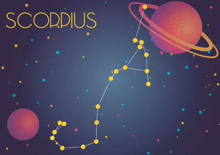 Bright image of the constellation Scorpius. Kids who are fond of astronomy will like it very much.
