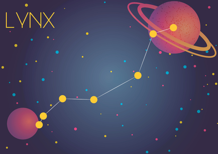 Bright image of the constellation Lynx. Kids who are fond of astronomy will like it very much.