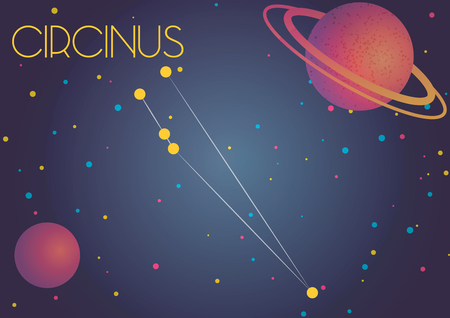 Bright image of the constellation Circinus. Kids who are fond of astronomy will like it very much.