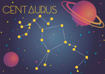 Bright image of the constellation Centaurus. Kids who are fond of astronomy will like it very much.