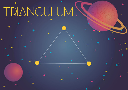 Bright image of the constellation Triangulum. Kids who are fond of astronomy will like it very much.