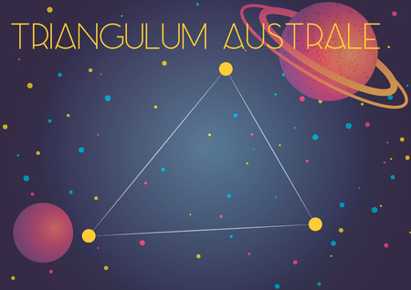 Bright image of the constellation Triangulum Australe. Kids who are fond of astronomy will like it very much.