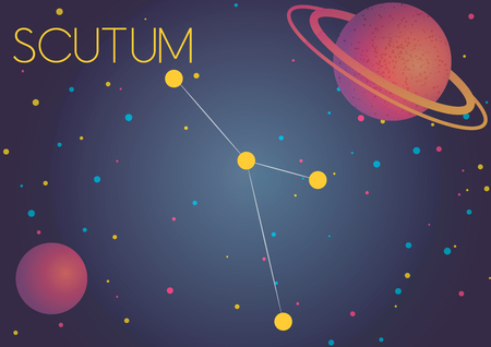 Bright image of the constellation Scutum. Kids who are fond of astronomy will like it very much.