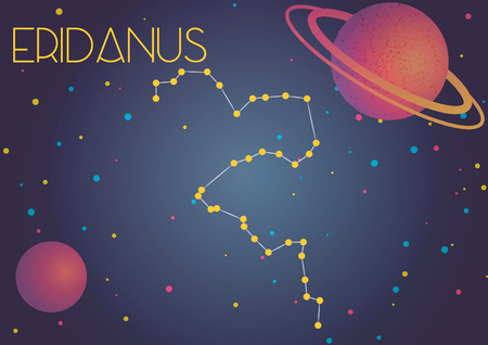 Bright image of the constellation Eridanus. Kids who are fond of astronomy will like it very much.