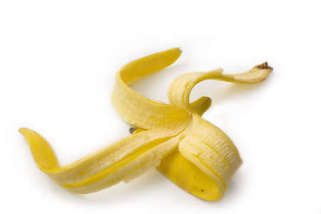 It is dangerous, when the banana peel lies on a floor Stock Photo