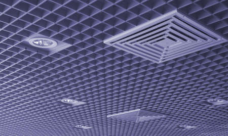 built in: Ceiling with the built in illumination and the hatch for ventilation.
