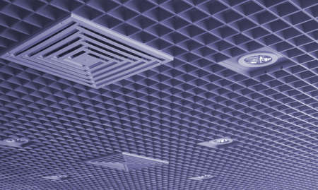 Ventilation: Ceiling with the built in illumination and the hatch for ventilation.