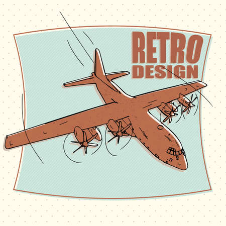 bomber: military plane or airplane, bomber - retro style