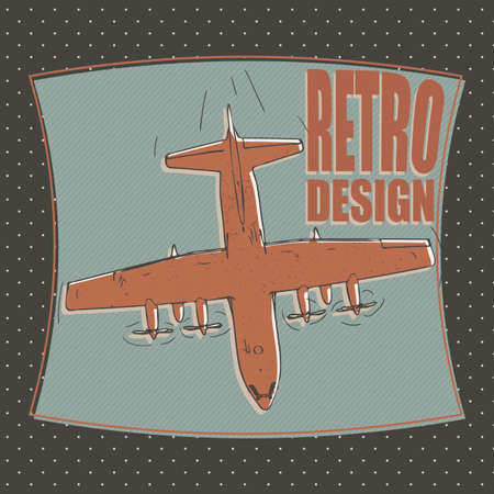 bomber plane: military plane or airplane, bomber - retro style