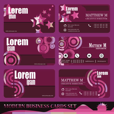 modern business: Business Card Stylish and modern vector set