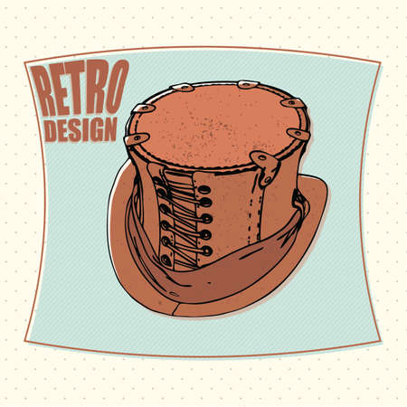 tophat: Tophat retro design cartoon vector isolated background