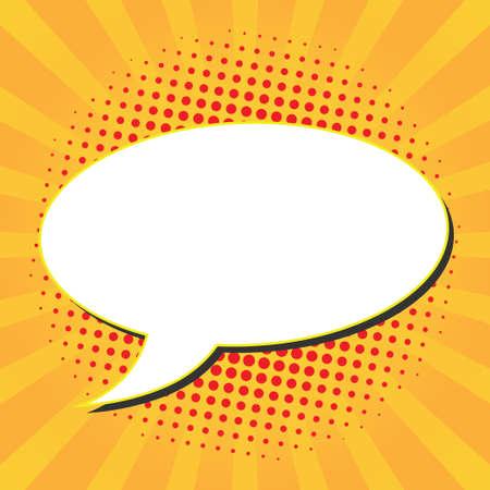 Speech bubbles with halftone dots Vector illustration. Illustration