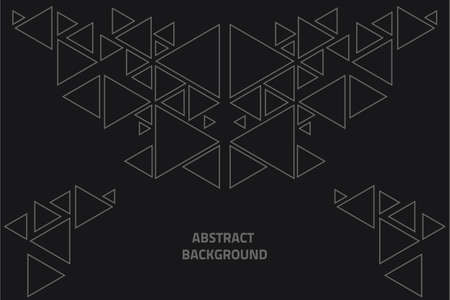 Abstract background with triangles Vectores