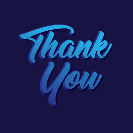 Writing a Thank You Greeting Vector illustration.