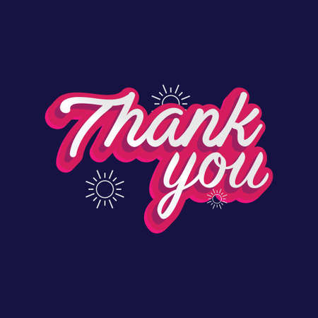 Writing a Thank You Greeting Illustration