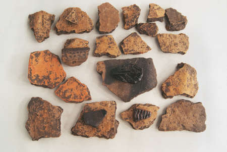 Archaeological finds from excavations in the Saratov region. Fragments of antique ceramics