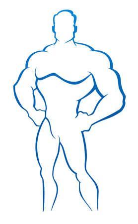 masculino: Ilustración vectorial de muscleman