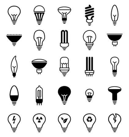 電球のアイコン。ランプ アイコンのベクター イラストです。
