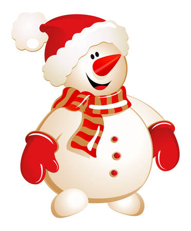 Vector illustration of snowman Illustration