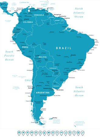 South America Map Stock Photos. Royalty Free South America Map Images