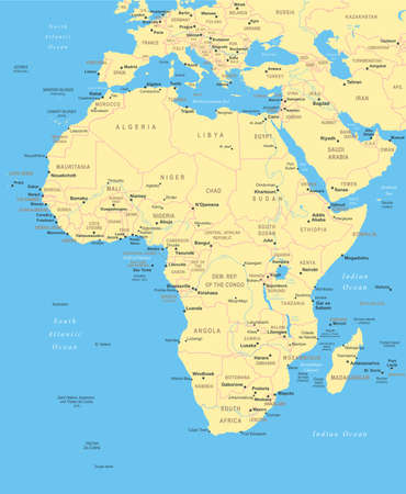 map of africa: Africa - map - illustration.