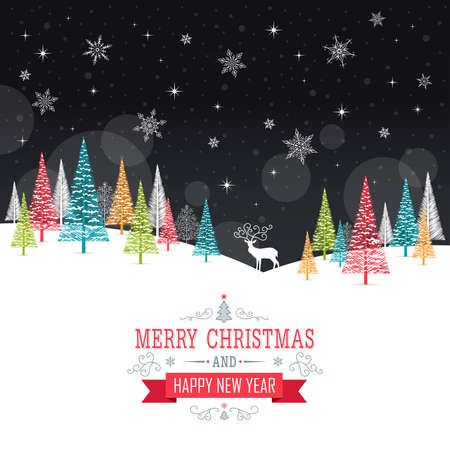 copy text: Christmas Card - Illustration. Vector illustration of Christmas Frame.