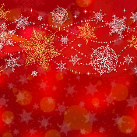 space for copy: Christmas Greeting Card with Space for Copy  Illustration