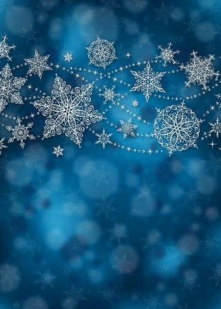 copo de nieve: Fondo De Navidad - Ilustración. Ilustración del vector del fondo de la Navidad.