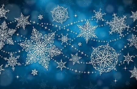 winter snow: Horizontal Christmas Background - Illustration. Vector illustration of Christmas Background. Illustration