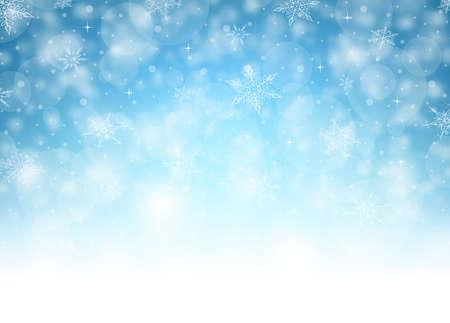 Horizontal Christmas Background - Illustration. Vector illustration of Christmas Background.  イラスト・ベクター素材