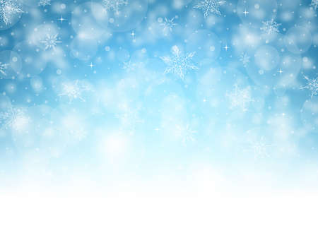 blue christmas background: Horizontal Christmas Background - Illustration. Vector illustration of Christmas Background. Illustration